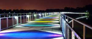 Apparently Des Moines recreated Rainbow Road from Super Mario Kart