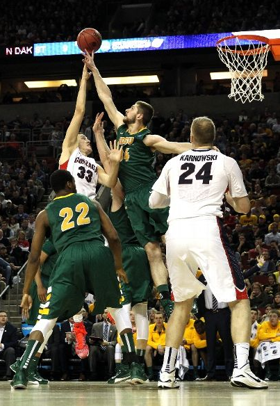The Bison lost by 10 to Gonzaga in the NCAA tournament.