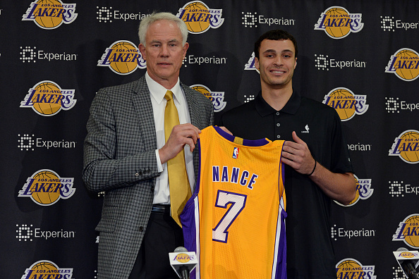 Mitch Kupchak is excited about Larry Nance as anyone.